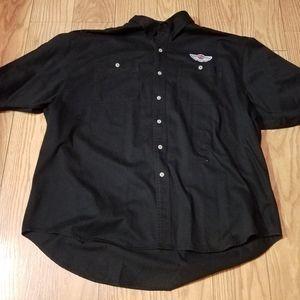 Black Harley-Davidson 100 years Buttons Shirt